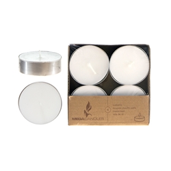 "4 pcs 3"" Unscented Floating Candles - Gold"