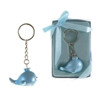 Mega Favors - Baby Blue Whale Poly Resin Key Chain in Gift Box