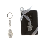 Mega Favors - Baby Angel Kneeling Poly Resin Key Chain in Gift Box - White