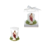 Jesus Poly Resin Candle Set in Gift Box - White