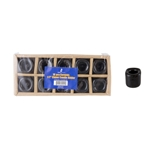 "Mega Candles - 10 pcs Ceramic 1/2"" Chime / Spell Candle Holder - Black"