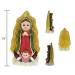 "Mega Favors - 10"" Baby Guadalupe Statue Poly Resin"