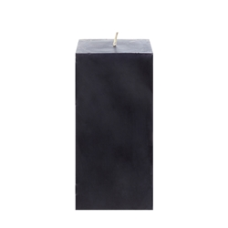 "Mega Candles - 3"" x 6"" Unscented Square Pillar Candle - Black"