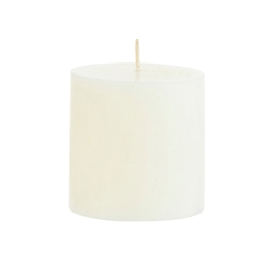 "Mega Candles - 3"" x 3"" Unscented Round Pillar Candle - Ivory"