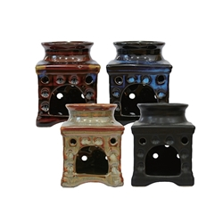 "Mega Crafts - 4"" Ancient Asian Design Oil Burner - Asst"